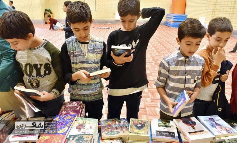 نمایشگاه کتاب 9 انس با کتاب, خرید کتاب, داستان, دانشآموز, دبستان, رمان, شاکرین, کتاب, کتاب داستان, کتاب قصه, کتاب کودک, کتاب نوجوان, کتابخانه, کتابخوانی, مدرسه شاکرین, نمایشگاه, نمایشگاه کتاب